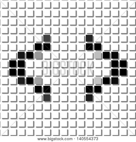 Bracket. Simple Geometric Pattern Of Black Squares In Bracket