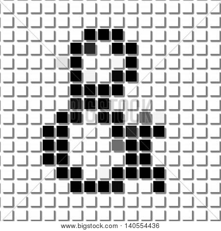 The And. & Simple Geometric Pattern Of Black Squares In The And