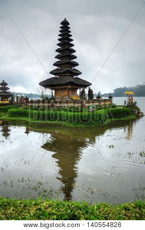 Pura Ulun Danu Bratan, Hindu Temple On Bratan Lake, Bali, Indonesia..