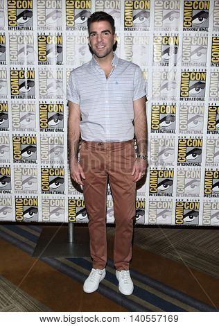 LOS ANGELES - JUL 21:  Zachary Quinto arrives to the Comic Con 2016 -