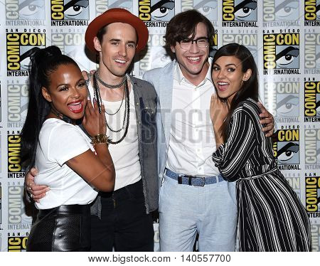 LOS ANGELES - JUL 22:  Christina Milian, Reeve Carney, Ryan McCartan & Victoria Justice arrives Comic Con 2016-The Rocky Horror Picture Show PhotoCall on July 22, 2016 in San Diego, CA