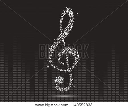Vector Illustration of an Abstract Music Design