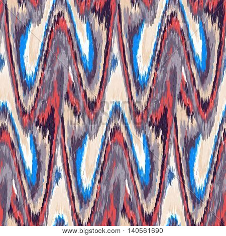 Multicolor seamless Ikat Pattern. Abstract background for textile design wallpaper surface textures wrapping paper.