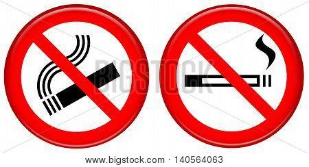 Rauchverbot No Smoking Illustration Icon Zigarette Nichtraucher