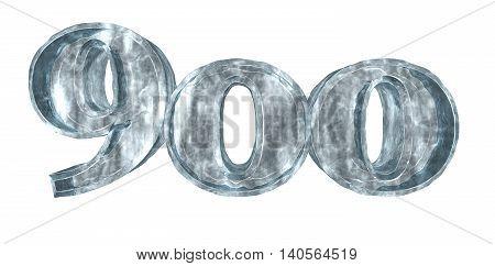 frozen nine hundred on white background - 3d rendering