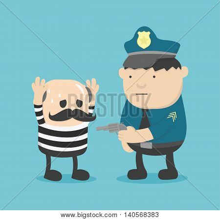 Business concept cartoon illustration arrested eps .10
