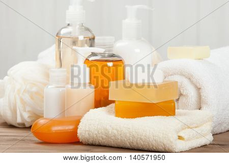 Soap Bar And Liquid. Shampoo, Shower Gel. Towels. Spa Kit