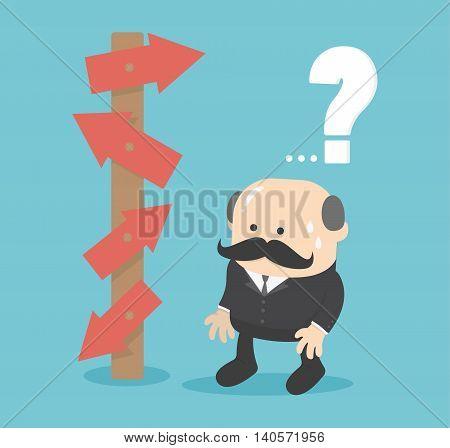 Business concept cartoon illustration choice concept vector illustration