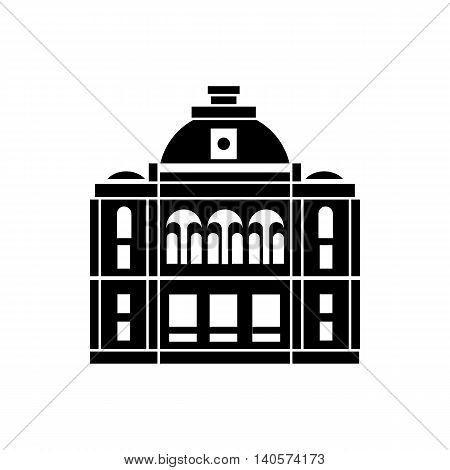 The building with the dome icon in simple style on a white background