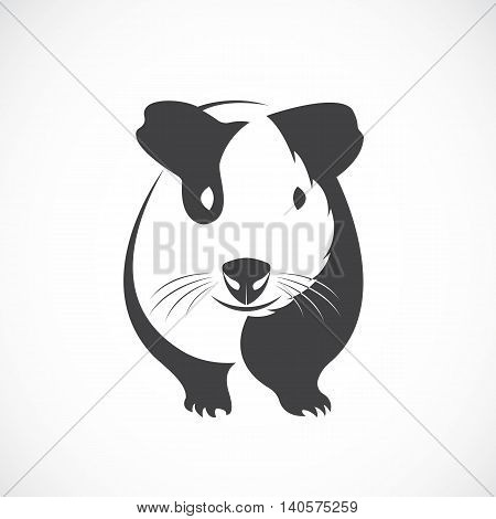 Vector of guinea pig design on white background.