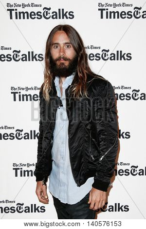 NEW YORK-AUG 14: Actor/musician Jared Leto attends 'TimesTalks Presents An Evening With Jared Leto' at The Times Center on August 14, 2014 in New York City.
