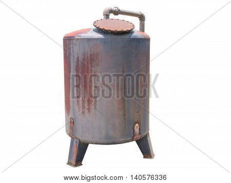 A large water tank isolated on white background .