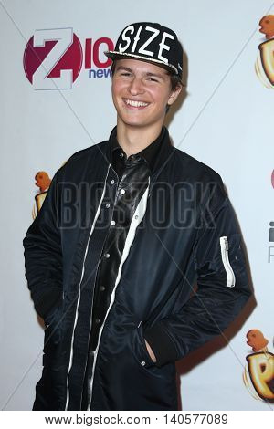 NEW YORK-DEC 12: Actor Ansel Elgort attends Z100's Jingle Ball 2014 at Madison Square Garden on December 12, 2014 in New York City.