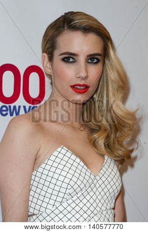 NEW YORK-DEC 12: Actress Emma Roberts attends Z100's Jingle Ball 2014 at Madison Square Garden on December 12, 2014 in New York City.