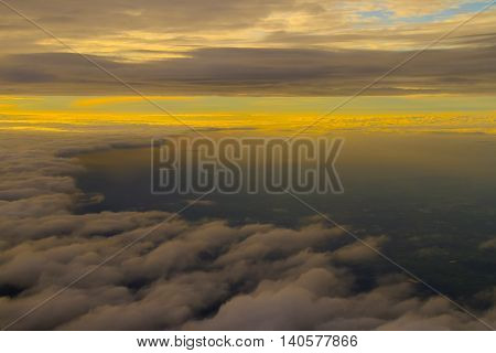 twilight cloud and sky background,colorful dramatic sky with cloud at sunset