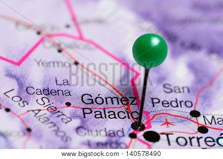 Gomez Palacio pinned on a map of Mexico