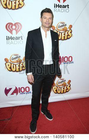 NEW YORK-DEC 12: Ryan Seacrest attends Z100's Jingle Ball 2014 at Madison Square Garden on December 12, 2014 in New York City.