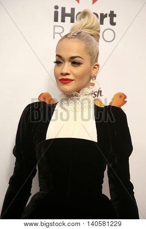 NEW YORK-DEC 12: Singer Rita Ora attends Z100's Jingle Ball 2014 at Madison Square Garden on December 12, 2014 in New York City.