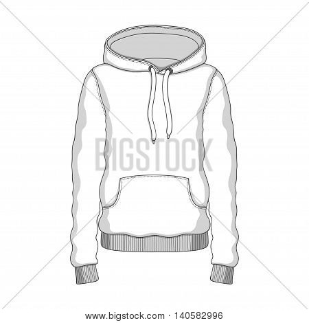 Vector linear Hoodie black white clothing hood