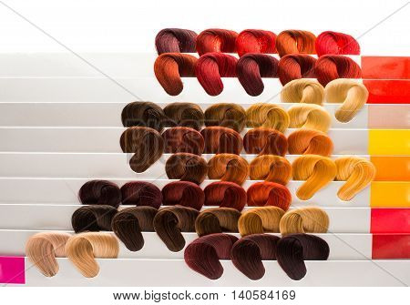 hair samples of different intensity  image colors