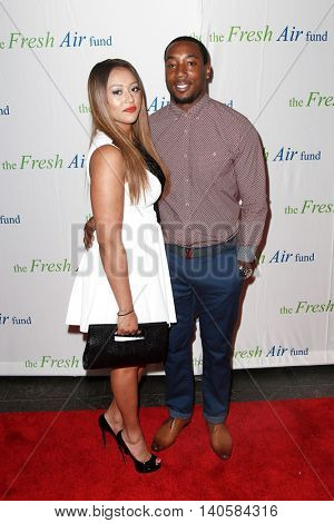 NEW YORK-MAY 29: Mario Manningham and guest attend the Fresh Air Fund Spring Gala Salute at Pier Sixty at Chelsea Piers on May 29, 2014 in New York City.