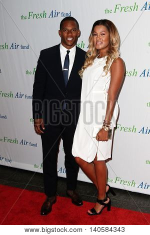 NEW YORK-MAY 29: Victor Cruz and Elaina Watley attend the Fresh Air Fund Spring Gala Salute at Pier Sixty at Chelsea Piers on May 29, 2014 in New York City.