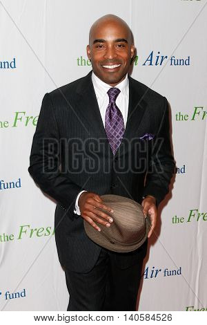 NEW YORK-MAY 29: Former NFL player Tiki Barber attends the Fresh Air Fund Spring Gala Salute at Pier Sixty at Chelsea Piers on May 29, 2014 in New York City.