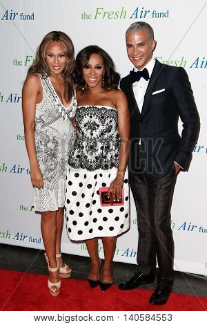 NEW YORK-MAY 29: (L-R) Deborah Cox, June Ambrose and Jay Manuel attend the Fresh Air Fund Spring Gala Salute at Pier Sixty at Chelsea Piers on May 29, 2014 in New York City.