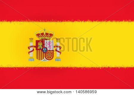 Illustration of the national flag of Spain with a Smudged look