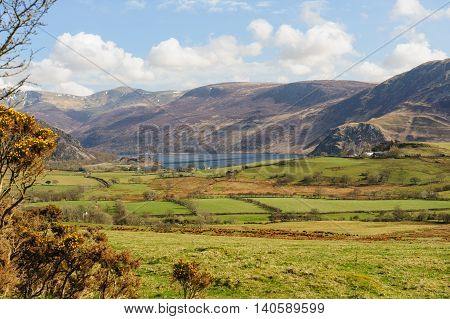View over Ennerdale Water from the road from Croasdale Cumbria