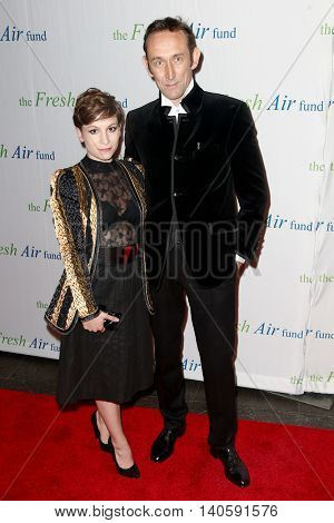 NEW YORK-MAY 29: Actor/director Cedric B. von Sydow and Charlotte von Sydow attend the Fresh Air Fund Spring Gala Salute at Pier Sixty at Chelsea Piers on May 29, 2014 in New York City.