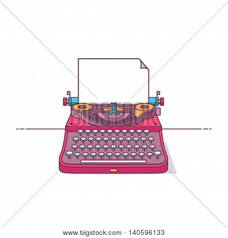 Color Illustration Typewriter