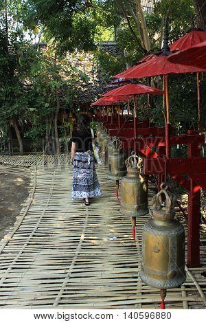 Viajando na Tailândia - Templo em Chiang Mai, Tailândia