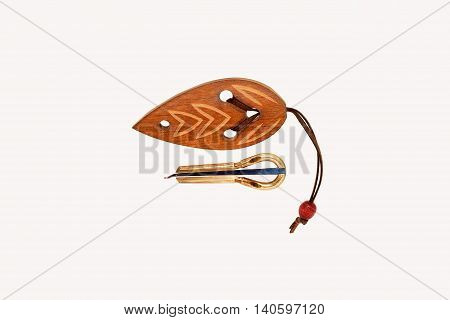 folk musical instrument Vargan on white background