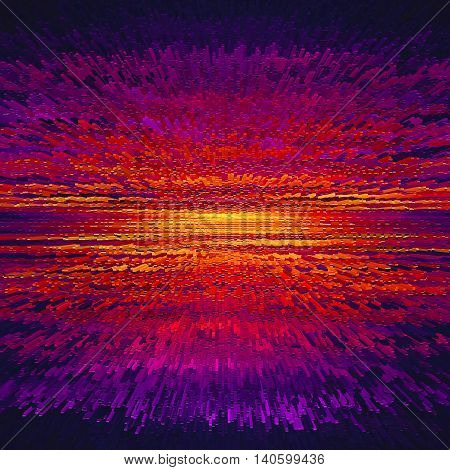 Orange purple abstract background texture with filter extrude