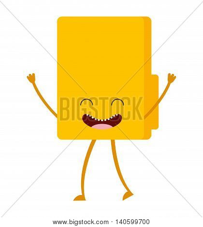 folder character cute icon vector isolated graphic