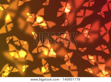 Abstract butterfly background. Magic light illustration with lovely butterfly design.