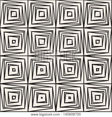 Vector Seamless White And Black Diagonal Lines Lattice Grid Pattern
