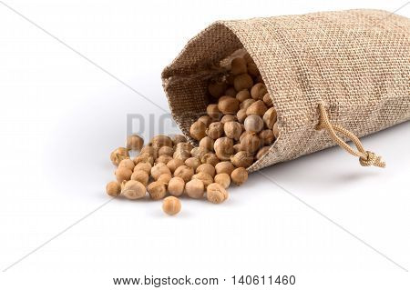 Chick Pea On White Background