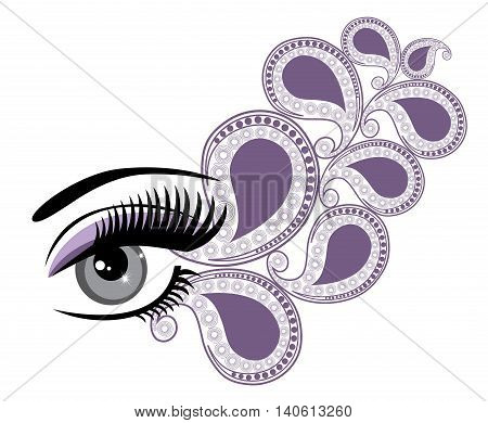 vector illustration of an eye with swirls