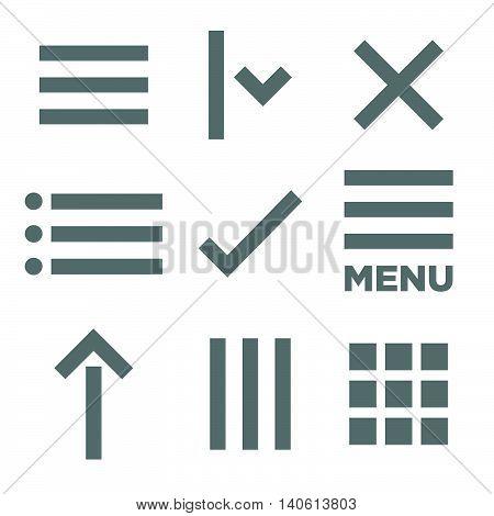 Flat Menu Icon Illustration
