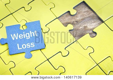 Puzzle pieces with word Weight Loss