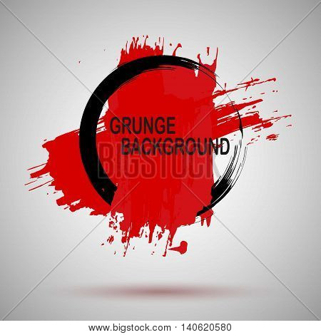 Grunge Illustration Black and red Paint Spray Texture, Background to Create Grunge Effect .