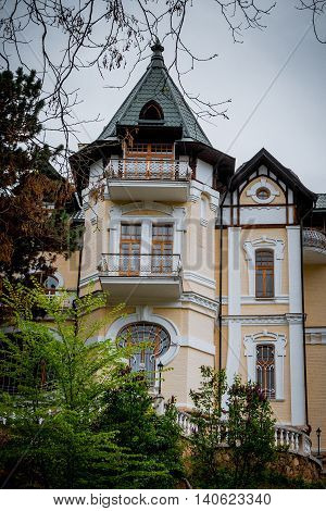 Art Nouveau or Liberty Stile villa building from the early 20th century.