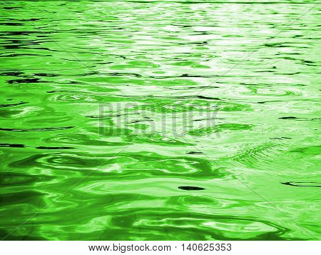 reflection of light on the waves ,Green water and light from the sun in pool ,water level ,Green abstract background