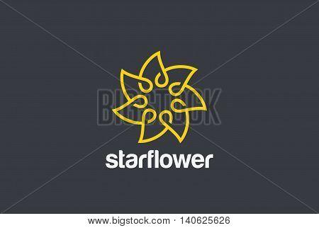 Flower infinity Star Logo design vector Cosmetics SPA Fashion