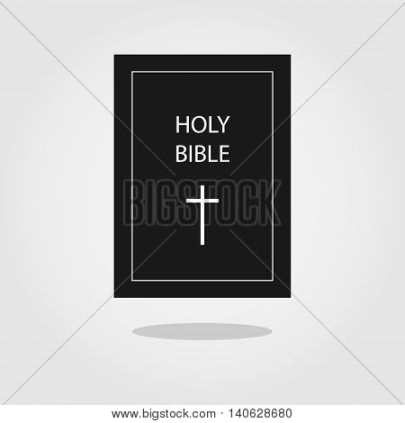 Holy Bible vector icon. Vector Bible book simple icon