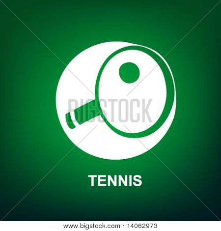 tennis sport icon on the green background