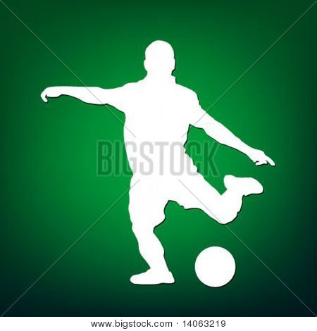 football player on the green background
