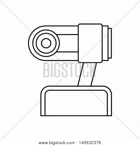 Webcam icon in outline style isolated on white background. Video symbol